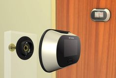 A digital peephole. | 22 Ingenious Products That Will Make Your Workday So Much Better