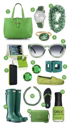 15 Green Accessories perfect for St. Patrick's Day #accessories #fashion