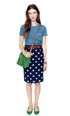 DIY Tutorial DIY Clothes DIY Refashion / DIY Polka-Dot Skirt - Bead&Cord