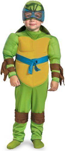 Teenage Mutant Ninja Turtles Leonardo Muscle Costume, Green/Brown/Blue, Small (2T) Disguise,http://www.amazon.com/dp/B004U7UL4Y/ref=cm_sw_r_pi_dp_NkSDrb53BCF24696