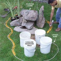 How to build a low maintenance water feature