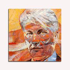Digitaal portret schilderij Sjer Jacobs
