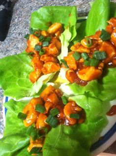 Sweet & Spicy Asian Chicken Lettuce Wraps | Eat to Perform