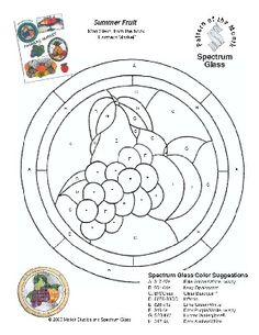 Free Stained Glass Pattern 2183-Summer Fruit