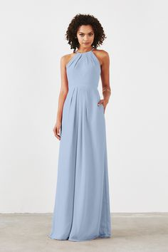 Dove & Dahlia Isabelle Bridesmaid Dress in Light blue in Chiffon