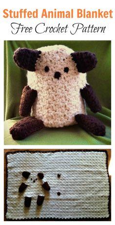 Stuffed Animal Blanket Free Crochet Pattern #Blanket #Crochet #Freepattern