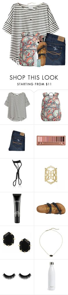 """""""example set- August; day 2"""" by pineappleprincess1012 ❤ liked on Polyvore featuring Vera Bradley, Abercrombie & Fitch, Urban Decay, NARS Cosmetics, Kendra Scott, MAC Cosmetics, Birkenstock, S'well, OtterBox and pineapplesummer"""