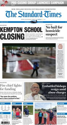 The Standard-Times. June 16, 2015.  Grab a copy and visit SouthCoastToday.com for more on the closing of the Kempton School in New Bedford, the pro-casino group's campaign and more news from SouthCoast and beyond.