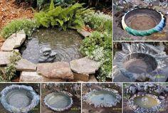 DIY Tractor Tire Garden Pond DIY Tractor Tire Garden Pond by diyforever