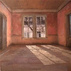 Matteo Massagrande - Soft coral walls sunlight on the floor. Beautiful in its simplicity. Even an empty room can be romantic.