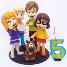 Cute Scooby-Doo Birthday Cake Topper made by Libélula Artesanal Bolo Scooby Doo, Scooby Doo Birthday Cake, 5th Birthday Cake, Kids Birthday Themes, Birthday Cake Toppers, Boy Birthday, Scooby Doo Images, Movie Cakes, Cake Models