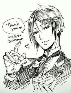 Sebastian, , black butler, , kuroshitsuji, , by yana toboso, , black butler sketch, , manga