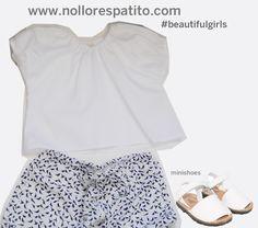 Look niña cropped top + pantalón pijamero