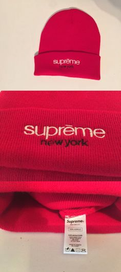 Hats and Headwear 62175: Supreme Classic Logo Beanie Red Brand New -> BUY IT NOW ONLY: $70 on eBay!