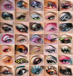 truebluemeandyou:  DIY Inspiration: Eye Makeup Collage by Sandra Holmbom here. For the scariest Masquerade Makeup ever go here for the warning and link. For more of Sandra Holmbom's amazing FX and every day makeup go here: truebluemeandyou.tumblr.com/tagged/psychosandra