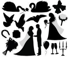 freepik - Getting married silhouettes