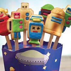 Silikonform RoboPops für Kuchen am Stil - RBV Birkmann #cake #bake #robots #funny