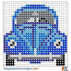 Bügelperlen Vorlage VW Käfer