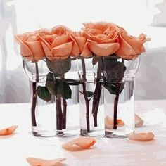 Great Tips for Wedding Table Flower Decorations Rose Centerpieces, Centerpiece Decorations, Decoration Table, Flower Decorations, Wedding Reception Table Decorations, Wedding Table Flowers, Wedding Ideas, Reception Ideas, Table Wedding