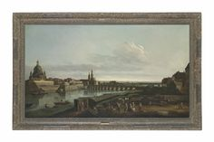 Follower of Bernardo Bellotto  Dresden from the right Bank of the Elbe above the Augustus Bridge