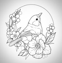 available to tattoo! i'm ready for spring cuteness now  ideally on a leggy. get in touch if you'd like to get tattooed!  .  .  #tattoo #bird #birdtattoo #nature #floral #floraltattoo #flowers #flowertattoo #leaves #berries #naturetattoo #pretty #linework #lines #linedrawing #art #wip #workinprogress