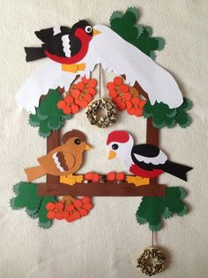 Hand Crafts For Kids, Diy And Crafts, Paper Crafts, Christmas Yard Art, Christmas Crafts, Christmas Decorations, School Board Decoration, School Decorations, Bird Template