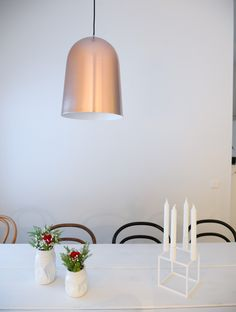Copper pendant in Kitchen - Kupoli designed Matti Syrjälä