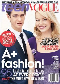Emma Stone and Andrew Garfield cover Teen Vogue