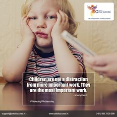 When parents provide kids their deserved and required time and support, they not only deeply connect with the parents but also learn the values of life more effectively with a feeling of being loved and cared by the parents.  #MotivationalSpeaker #wednesday #happywednesday #wednesdaywisdom #WorkoutWednesday #wednesdaymotivation Wednesday 13 Lucky Wednesday Wednesday Mourning Happy Wednesday Practical Parenting Magazine Parwarish - Workshops for Parents, Teachers and Children Stay-at-home…