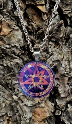 Double Pentacle cold worked dichroic jewel by Richard Elvis Etsy