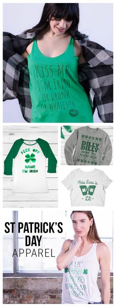 Be green and get lucky with funny apparel for St. Patrick's Day!  Choose from one of our hilarious design then add your own art and text. It's that easy!