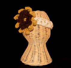 Crochet Sunflower Headband. $15.00, via Etsy.