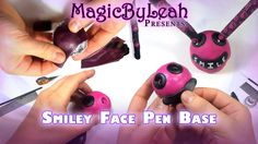 Sculpting a Polymer Clay Smiley Face Pen Base - Part 3 in the smiley face pen gift set tutorial video series