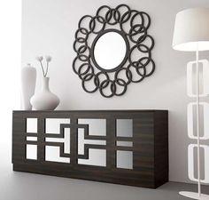 Espejos de diseño en madera modelo GLAM Pequeño. Decoración Beltrán, tu tienda de espejo online.