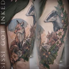animals of farthing wood  by Konstanze K tattooing at sissi got inked www.sissigotinked.com