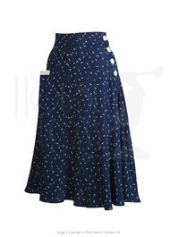 Style Skirts: A-line, Pencil, Jumper Skirts - Style Whirlaway Swing Dance Skirt in Starling Vintage Dress Patterns, Vintage Skirt, Vintage Dresses, Vintage Outfits, Vintage Clothing 1940s, 40s Clothing, 1940s Dresses, Vintage Fabrics, Skirt Outfits