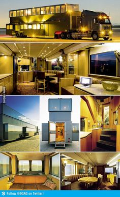 Ashton Kutcher's Mobile Home  Can you imagine traveling in this - shared by www.storagebeds.com