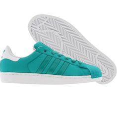 Adidas Superstar II 2 (aero reef / runninwhite) G22232 - $69.99 Me Too Shoes, Women's Shoes, Baby Shoes, Paul Verhoeven, Fresh Kicks, Pretty Shoes, Sneaker Brands, Adidas Superstar, Adidas Shoes