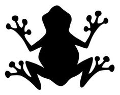 Silhouette Clipart Image: Silhouette of a Frog From Below or Above