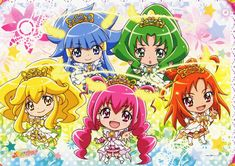 This is NOT glitter force.This is Pretty Cure,trust me Anime Music, Anime Art, Smile Pretty Cure, Cute Little Drawings, Glitter Force, Beautiful Anime Girl, Anime Sketch, Pretty And Cute, Manga Girl