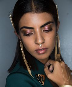 Shimmering eyes at Amazon India Fashion Week #aifwss17 #beauty #makeup