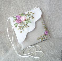 """Купить Сумочки """"Нежные лепестки"""" - комбинированный, цветочный, сумочка через плечо, сумочка ручной работы"""