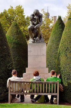 parisand franc, musé rodin, the thinker, le penseur, art, rodin museum, travel, sculptur, place