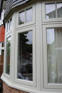 Timber Casement Windows and Replacement Timber Windows in London and Hertfordshire Porch Windows, Front Doors With Windows, Casement Windows, House Windows, Bay Windows, Timber Windows, Bay Window Exterior, 1930s House Interior, House Front Design