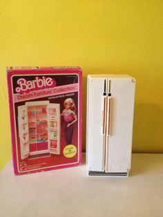 1980's Barbie Dream Furniture  Refrigerator by juxtaposevintage, $15.00