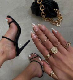 Nail Ring, Nail Manicure, Acrylic Nail Designs, Acrylic Nails, Cute Nails, Pretty Nails, Minimalist Nails, Dream Nails, Stylish Nails