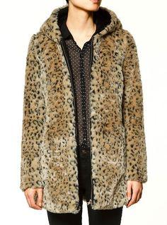 Veste en faux fourrure à motif léopard  EUR€27.35