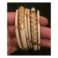 Vintage Spinach Jade Bracelet/Bangle Silver/ Gold No Safety Gold Bangles Design, Gold Jewellery Design, Gold Jewelry, Fancy Jewellery, Trendy Jewelry, Fashion Jewellery, Rajputi Jewellery, Ankle Jewelry, Bridal Bangles