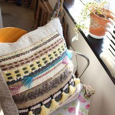 weaving cushion cover Cushion Covers, Weave, Crochet Top, Cushions, Inspiration, Women, Throw Pillows, Biblical Inspiration, Women's