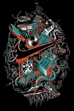 NIKE Apparel by Mike Friedrich, via Behance Graffiti Wallpaper Iphone, Xmas Wallpaper, Nike Wallpaper, Cool Nike Logos, Supreme Iphone Wallpaper, Tupac Art, Nike Poster, Fish Artwork, Dope Wallpapers
